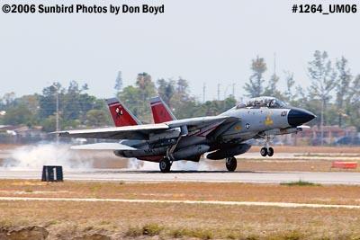 USN Grumman F-14D-170-GR Tomcat #164603 landing military aviation air show stock photo #1264