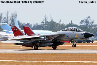 USN Grumman F-14D-170-GR Tomcat #164603 landing military aviation air show stock photo #1265