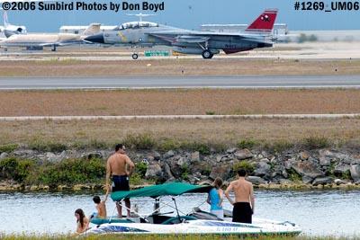 USN Grumman F-14D-170-GR Tomcat #164603 taxiing military aviation air show stock photo #1269