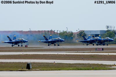 USN Blue Angels F/A-18 Hornets takeoff military air show aviation stock photo #1291