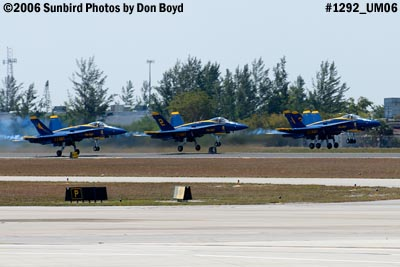 USN Blue Angels F/A-18 Hornets takeoff military air show aviation stock photo #1292