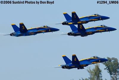 USN Blue Angels F/A-18 Hornets takeoff military air show aviation stock photo #1294