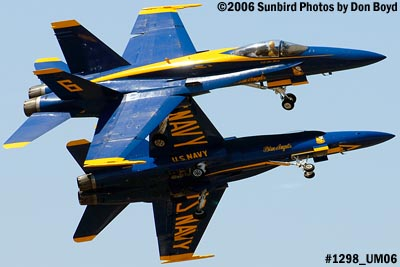 USN Blue Angels F/A-18 Hornets solo pilots takeoff military air show aviation stock photo #1298