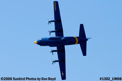 USMC Blue Angels C-130T Fat Albert (New Bert) #164763 fly-by after air show aviation stock photo #1302