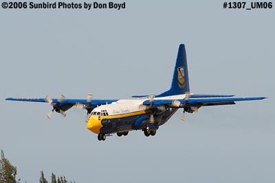 USMC Blue Angels C-130T Fat Albert (New Bert) #164763 steep landing sequence aviation photo #1307