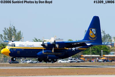 USMC Blue Angels C-130T Fat Albert (New Bert) #164763 steep landing sequence aviation stock photo #1309