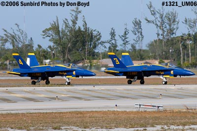 USN Blue Angels F/A-18 Hornets #3 and #4 taxiing military air show aviation stock photo #1321