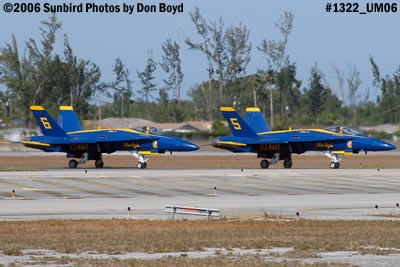 USN Blue Angels F/A-18 Hornets #5 and #6 taxiing military air show aviation stock photo #1322