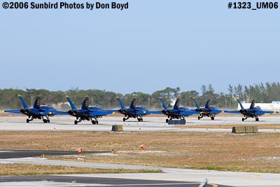 USN Blue Angels F/A-18 Hornets #1 thru #6 taxiing military air show aviation stock photo #1323