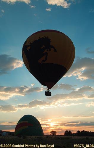 Hot air balloon launches at Colorado Springs aviation stock photo #9375