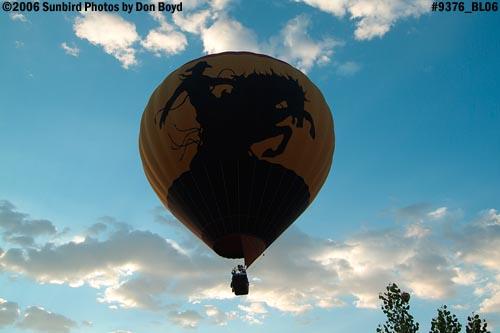 Hot air balloon launches at Colorado Springs aviation stock photo #9376