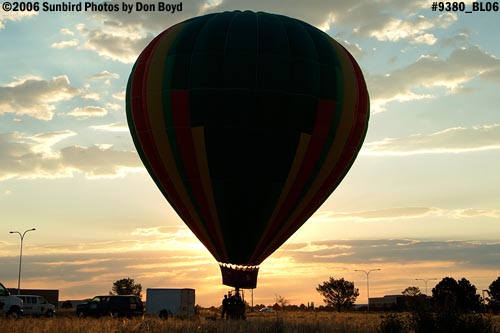 Hot air balloon launches at Colorado Springs aviation stock photo #9380
