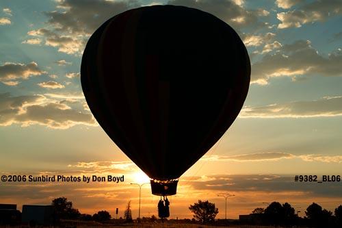 Hot air balloon launches at Colorado Springs aviation stock photo #9382