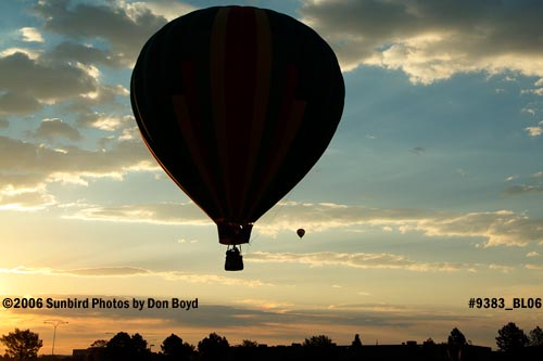 Hot air balloon launches at Colorado Springs aviation stock photo #9383