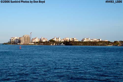 Fisher Island viewed from Causeway Island, Miami Beach, landscape stock photo #9493