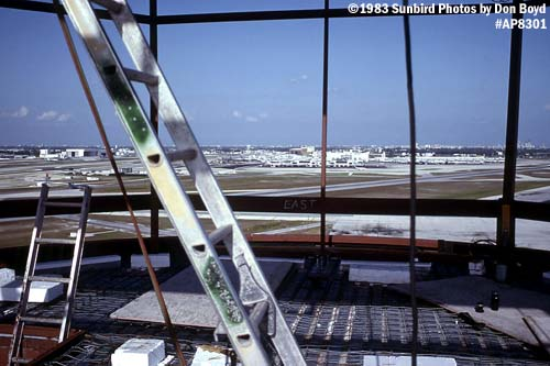 1983 - View of Miami International Airport from new tower and cab under construction airport photo #AP8301