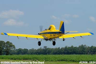Dixon Brothers Flying Service Air Tractor AT-402 N4555E crop duster aviation stock photo #CP06_1534