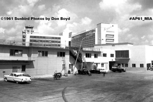 1961 - Miami International Airport Concourse 3 (now F) terminal aviation stock photo #AP61-MIA-F