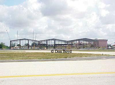 Late 1990s - the Avborne Hangars under construction at MIA