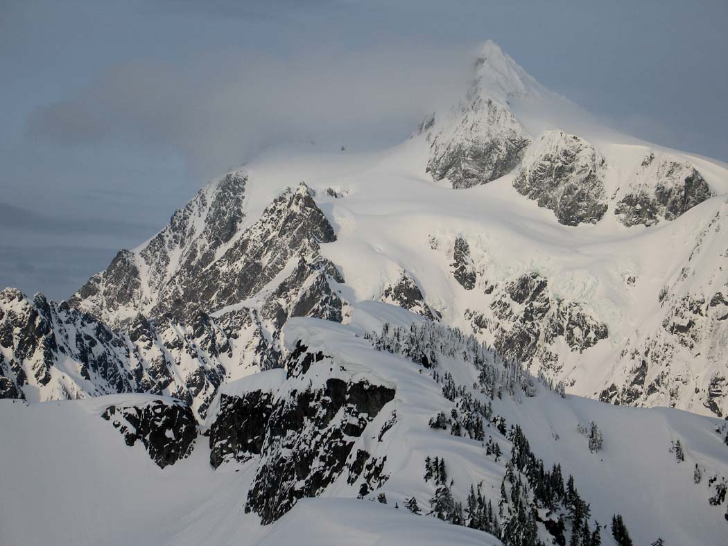 Mt Ann, Summit Cornices, & Shuksan W Face (Shuksan033006-61adj.jpg)