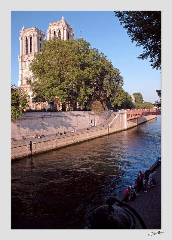 Notre Dame sunset - 2859