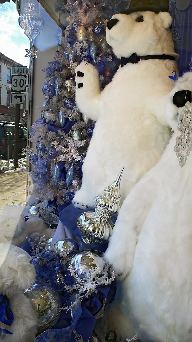 Christmas bears display