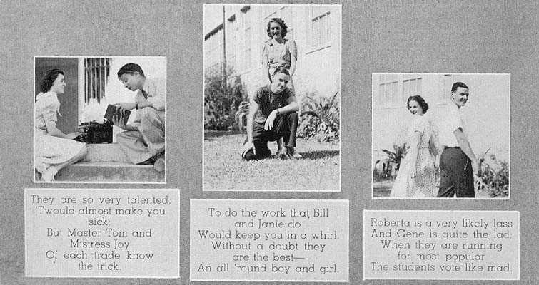 1939 - bottom third of the Miami High yearbook Superlatives page