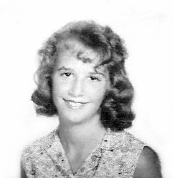 1962 - Linda High in her 6th grade photo at Kensington Park Elementary