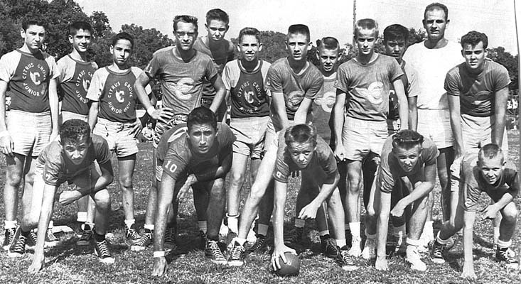 1958-1959 - the Citrus Grove Junior High football Green Team (names below)