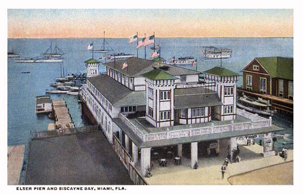 1910s - Elser Pier on Biscayne Bay, downtown Miami  (see comments below)