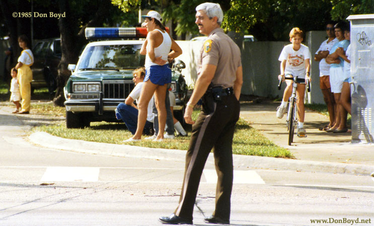 1985 - Art McNatt serving as a reserve Metro-Dade police officer for the Veterans Day Parade in Miami Lakes