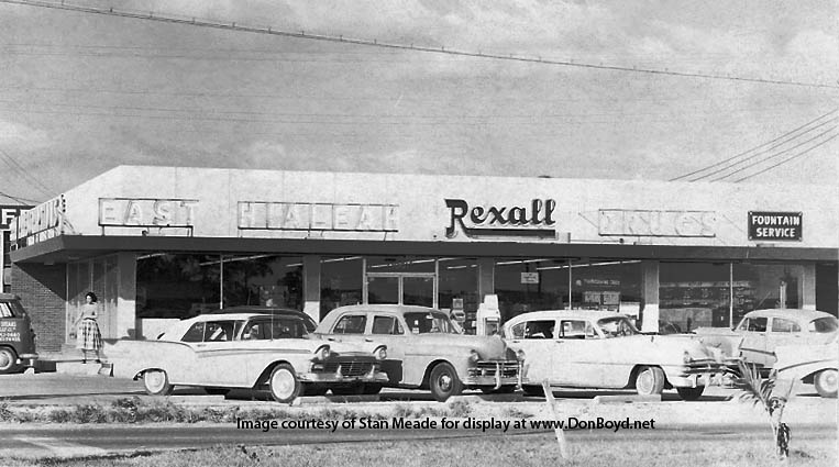 1950s - East Hialeah Rexall on E. 25th Street (NW 79th Street in Dade)