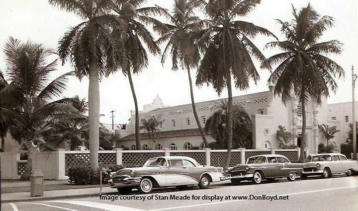 1956 - church on the southwest corner of Drexel Avenue and Lincoln Road, Miami Beach
