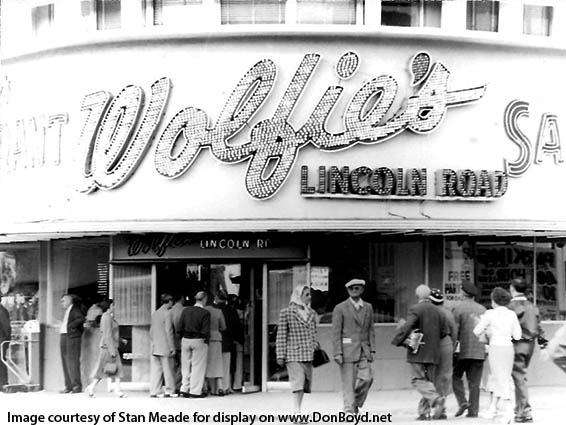 1955 Wolfies Restaurant At Lincoln Road And Collins Avenue Miami Beach