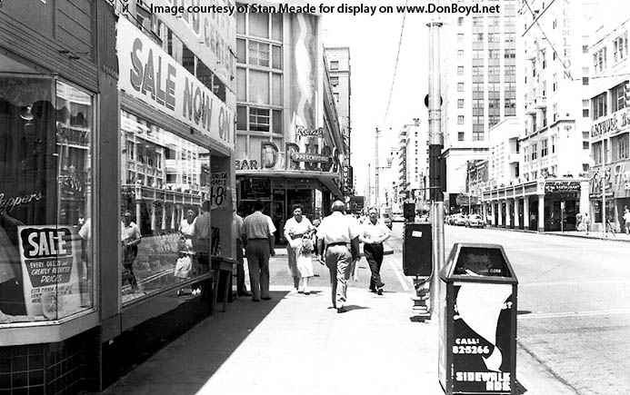 1950s - looking west at the Drug City on Flagler Street and SE 3rd Avenue, downtown Miami