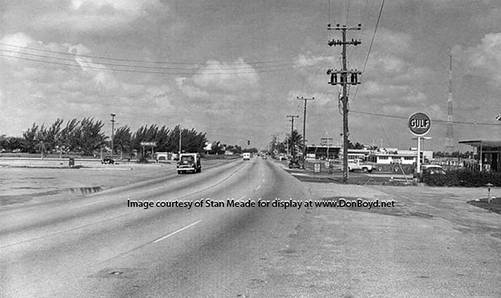 1950s - looking west towards Miami on the 79th Street Causeway