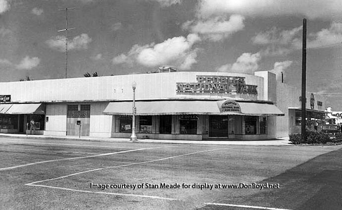 1950s - Peoples National Bank of Miami Shores at 95th Street and NE 2nd Avenue, Miami Shores