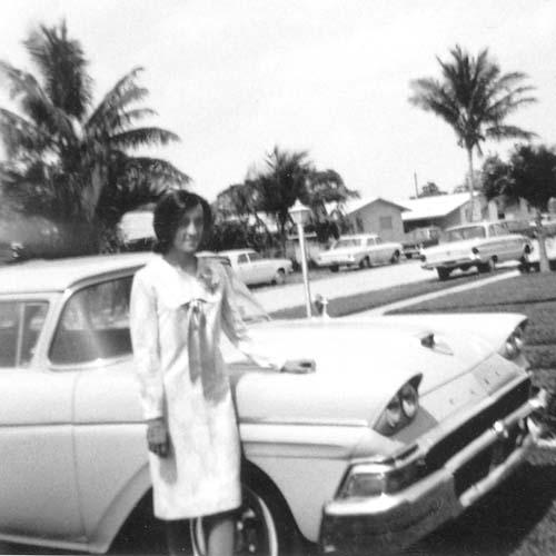 1965 - Elizabeth Liz Jones outside home in Hialeah