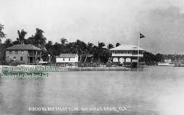 1920 - Biscayne Bay Yacht Club at Cocoanut Grove