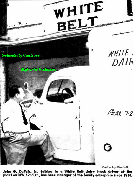 1948 - article about John G. DuPuis Jr., son of Dr. John G. DuPuis, and the White Belt dairy, part 3