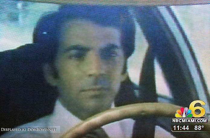 2010 - an old shot from the 1970s of WTVJs Bob Mayer test driving a car