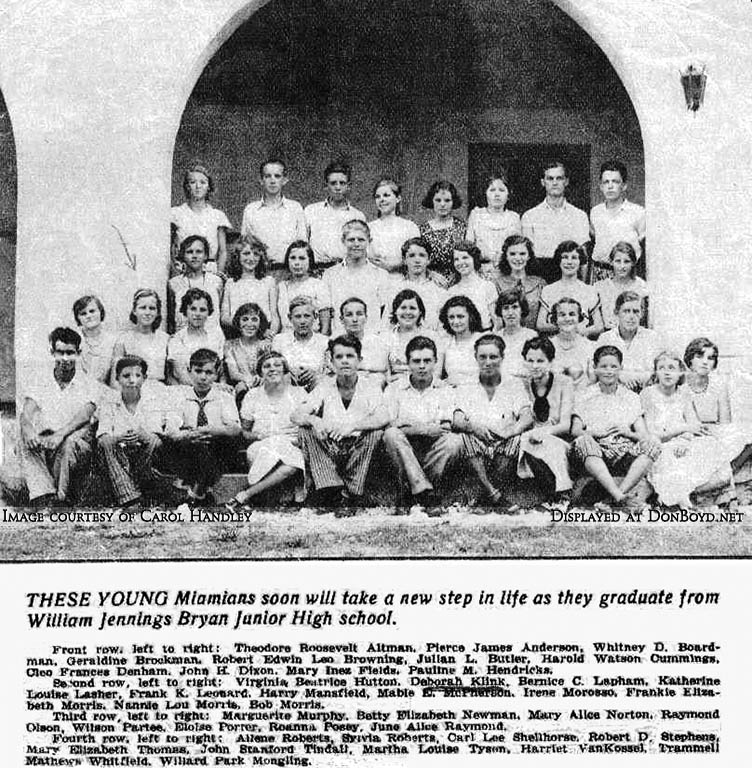 1931? - the graduating class at William Jennings Bryan Junior High School in North Miami