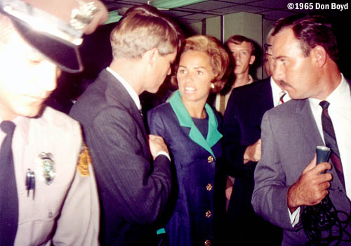 1965 - U. S. Senator (D-NY) Robert F. Kennedy and his wife Ethel at Miami International Airport