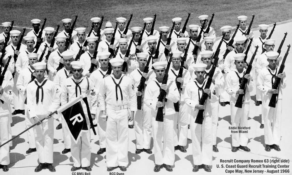 1966 u s coast guard recruit company romeo 63 r 63 right