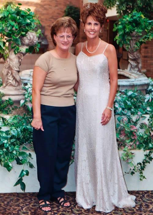 Lifelong friend Lisa Bartlett and Kathy, photo #020_17