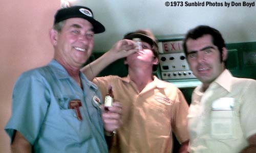 1973 - United Airlines customer service agent Ron Myers, Joe Mullery, Jr., and Ed Pizzino