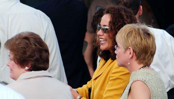 2003 - Beverly Weinsier (left), Lauren Gail Stover (middle) and Juana Diaz Duff (right) at runway 8-26 dedication