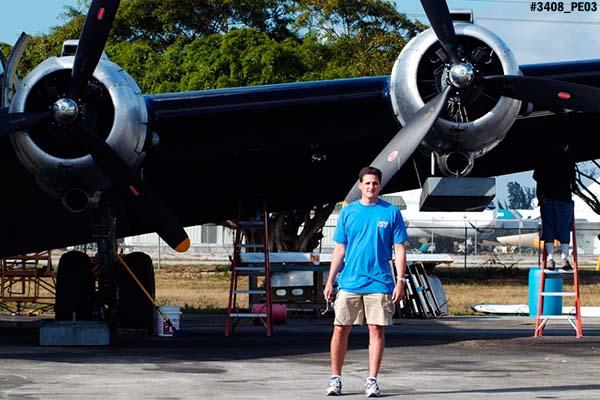 2003 - Marc Hookerman and DC-4 at OPF