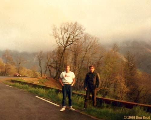1966 - Jack Sullivan and Bob Zimmerman in the Smokies in the early morning