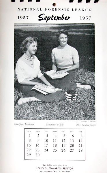 1957 - Coral Gables High Calendar Girls